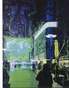 http://britfa.gs/art/src/123912990647.jpg [( Science-fiction, dystopia, future noir, Blade Runner, cyberpunk, night skylines, dark city, Metropolis )]