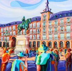 FELIPE III (MADRID). Oleo sobre lienzo. 100 x 100 x 3,5 cm.