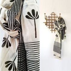 Limited edition hand block printed scarves by Skinny laMinx.