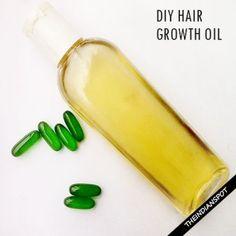 DIY HAIR GROWTH OIL FOR LONG SHINY HAIR