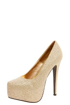 Sparkly Platform Heels at boohoo.com (they also have these in silver or black)