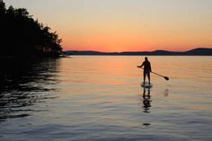 Sunset Stand Up Paddle Surf