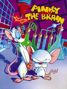 This style of cartoony Pinky and the Brain