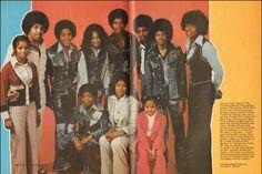 The Jackson Family from Black Stars Magazine (1974)  (L-R Rebbie Jackson, Joe Jackson, Tito Jackson, Marlon Jackson, La Toya Jackson, Jackie Jackson, Tito Jackson, Michael Jackson, Jermaine Jackson, Randy Jackson, Katherine Jackson, and Janet Jackson)