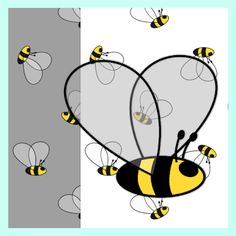 FREE #printable #bee fun #papers and bee embellishment / bee clipart download