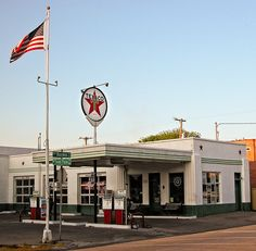Old Historic Texaco Gas Station - circa 1930's - now rebuilt and refurbished as a bank, located in Snider Plaza Dallas TX 75205 @elainehomebuzz