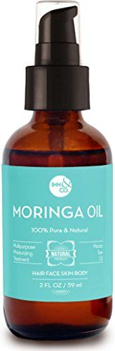 InnCo Organic Moringa Oil Treatment  2 fl Oz  For Hair Skin Face 100 Pure Undiluted Cold Pressed Unrefined AntiAging Skin Treatment -- Learn more by visiting the image link.