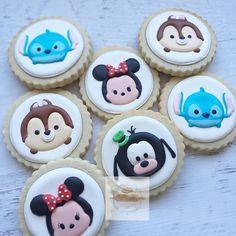 Tsum Tsum cookies for my fav @bethkrusecustomcreations #tsumtsum #customcookies #charactercookies
