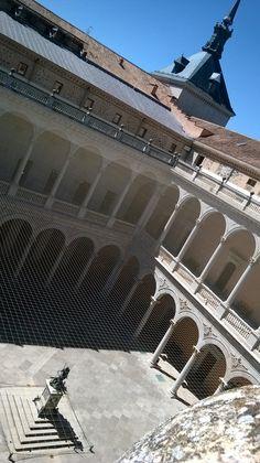 Patio del Alcázar de Toledo. Spain.