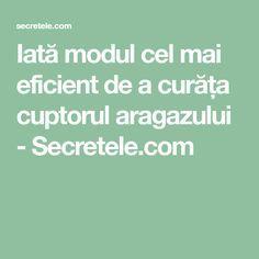 Iată modul cel mai eficient de a curăța cuptorul aragazului - Secretele.com Good To Know, Diy And Crafts, Math, Usb, Math Resources, Mathematics
