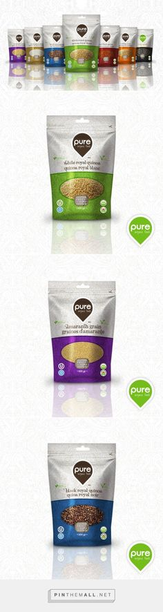 Pure Organic Foods - Grains         on          Packaging of the World - Creative Package Design Gallery - created via http://pinthemall.net