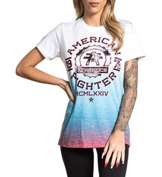 AMERICAN FIGHTER Womens Hoodie Sweat Shirt Jacket STONY BROOK Biker Gym UFC $60