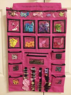 Jewelry organizer bags are great for hair accessory storage.