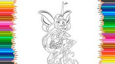 Winx Club The flying school Bloom Harmonix Coloring Pages l Coloring Mar...