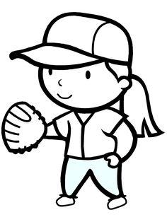 girls softball coloring printables free printable coloring page