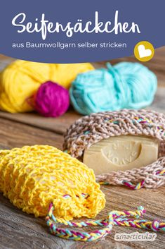 Knitting soap bags out of cotton yarn: Sustainable and Seifensäckchen stricken aus Baumwollgarn: Nachhaltig und vielseitig verwendbar Knit soap bags: Just make it yourself from cotton yarn - Diy Jewelry To Sell, Diy Jewelry Holder, Diy Jewelry Making, Hand Knitting, Knitting Patterns, Diy Jewelry Inspiration, String Bag, Glasses For Your Face Shape, Handmade Soaps