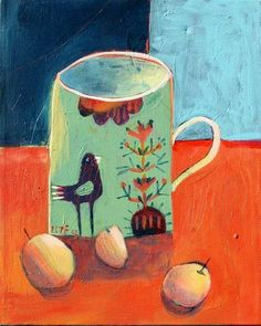 I am thrilled to be able to share some inspirational art and design with you every Tuesday morning as Rachael's 'Art and Creative Writer'. Art Painting, Art Drawings, Naive Art, Still Life Art, Painting, Whimsical Art, Illustration Art, Art, Abstract