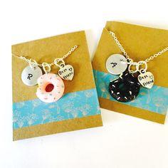 Best Friend Necklace, Donut Necklace, Best Friends Necklace Set, Little Girls Necklace, Best Friends Gift, Kids jewelry