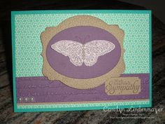 Carolyn's Card Creations: Butterfly Sympathy