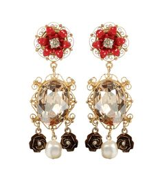 DOLCE & GABBANA Exclusive To Mytheresa.Com – Embellished Clip-On Earrings. #dolcegabbana #jewellery