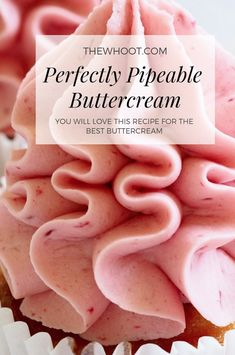 The best vanilla buttercream frosting recipe. The perfect creamy vanilla buttercream frosting recipe. Easy to make vanilla buttercream frosting, perfect for cakes or piping cupcakes Whipped Cream Buttercream, Buttercream Frosting For Cupcakes, Cupcake Frosting Recipes, Best Buttercream Frosting, Cupcake Cakes, Piping Frosting, Frosting Tips, Best Frosting Recipe For Decorating Cakes, Desert Recipes