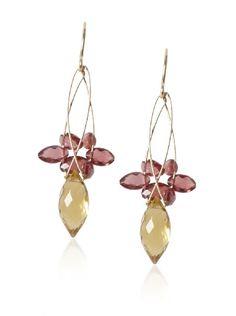 Misha Citrine & Garnet Multi-Stone Earrings at MYHABIT