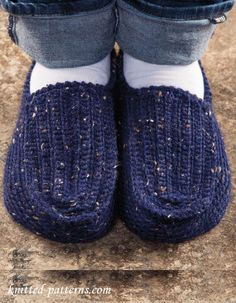 Men's Slippers Crochet Pattern Free