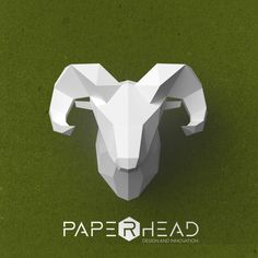 Wall-type Ram head template PDF by PaperheadDesign on Etsy #Ram #Paper #Paperhead #Head