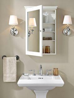 Bathroom decor, Bathroom decoration, Bathroom DIY and Crafts, Bathroom Interior design Bathroom Wall Cabinets, Bathroom Furniture, Bathroom Interior, Remodel Bathroom, Bathroom Makeovers, Wooden Furniture, Antique Furniture, Bathroom Renovations, Bathroom Mirrors
