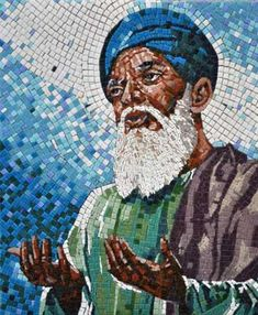 Examples of mosaic portraits and impressionistic mosaic artwork with a discussion of how to create photo-realistic images in mosaic. Cheap Mosaic Tiles, Glass Mosaic Tiles, Old Man Portrait, Cute Desktop Wallpaper, Sea Life Art, Mosaic Portrait, Mosaic Artwork, Create Photo, Sufi