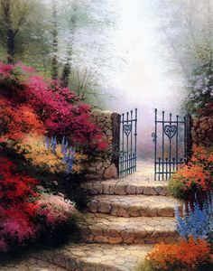 Garden of Promise Cross Stitch Pattern Needlecraft by icrossstitchpattern on Etsy