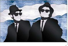 The Blues Brothers by John's Stained Glass Patterns