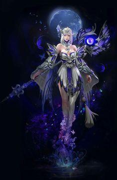 bonne visite et ) bientoy ! Character Designer, Female Character Design, Character Art, Chica Fantasy, Fantasy Girl, Dark Fantasy, Fantasy Heroes, Fantasy Characters, Female Characters