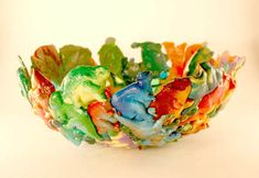 Melted bowls - dinos, Army men and bugs! - Can do it on the grill too - no fumes inside the house