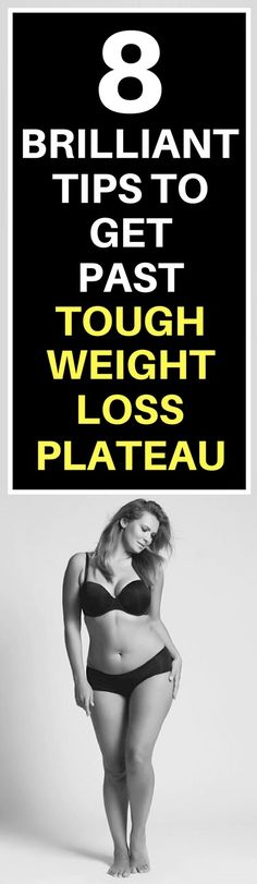 8 tips to overcome weight loss plateau.