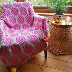 Modern Crochet Blanket, Crochet Blanket Patterns, Crochet Blankets, Crochet Afghans, Crochet Chart, Free Crochet, Red Sparrow, Geometric Throws, Mosaic Patterns