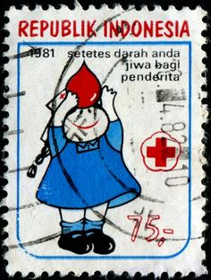 Indonesia Red Cross Stamp.