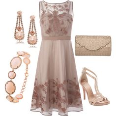 Neutral Sparkle, created by rebecca-horn on Polyvore