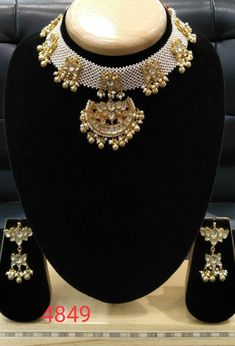 Pacchi kundan Available at Ankh Jewels For booking WhatsApp on Royal Jewelry, Emerald Jewelry, Indian Jewelry, Gold Jewelry, Beaded Jewelry, Jewelery, Trendy Jewelry, Simple Jewelry, Kundan Set