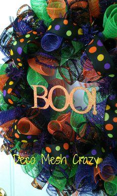 Halloween Deco Mesh Wreath- http://www.facebook.com/decomeshcrazy