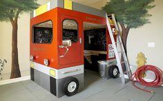 Cama para mini bomberos :) #infantil #dormitorios_infantiles