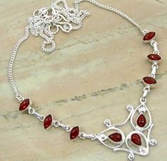 6.72ctw Genuine Carnelian & .925 Sterling Silver Plated Brass Necklace (SJHN0082CRN) #fashionnecklaces #beautifulnecklaces #cheapnecklaces #silvernecklacesforwomen #necklacependants #silvernecklaceslong #silvernecklace #personalizednecklaces #womensnecklace #silvernecklaceformen #menssilvernecklace #mennecklaces #mensnecklaces #gemstone necklaces Buy Now:  http://www.sterlingsilverjewelry.tv/genuine-carnelian-silver-plated-brass-y-necklaces-sjhn0082crn.html