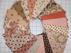 20 Civil War Pink and Brown Bubblegum and Chocolate Reproduction Quilt Fabric Fat Quarter Bundle Free Ship by PrivateSourceQuiltin on Etsy