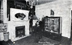 Office of Brown & Burpee, Optometrists, 940 Elm Street, Manchester NH, old postcard from blog: Cow Hampshire