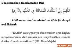 Doa memohon keselamatan diri