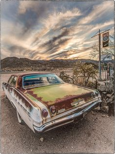 Sunset in Hackberry AZ taken with Canon 5D Mk II.