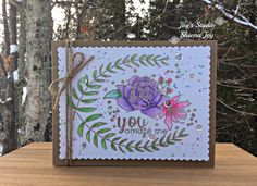 https://flic.kr/p/PGDrfW | You Amaze Me Floral Card | I made this card using the Floral Frame stamp set from Altenew. I love the script on this stamp set! I used Zig Clean Color Real Brush Markers. #altenew #SheenaJoy #JoysSudio