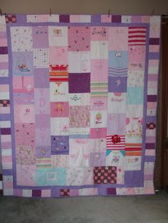 Quilt made from your  baby clothes.  what a great idea