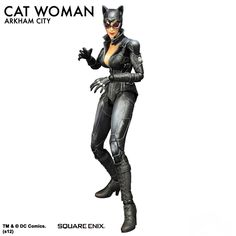 Sideshow Collectibles is proud to introduce, from Square Enix, the Catwoman: Arkham City Play Arts Kai collectible figure. From the video game Batman: Arkham Ci Catwoman Arkham City, Batman Arkham, Nightwing, Batgirl, Cat City, Red Hood, Gotham City, Friends, Kai