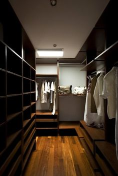 Beautiful walk in closet.